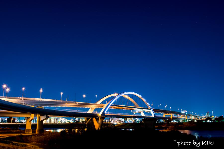 五色桜大橋夜景