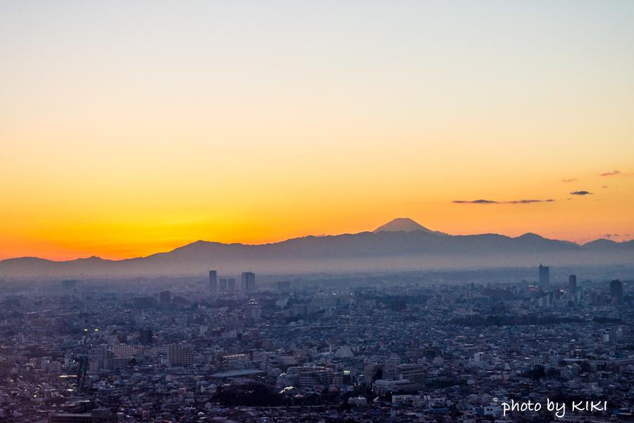 恵比寿ガーデンプレイス 展望台で富士山撮影
