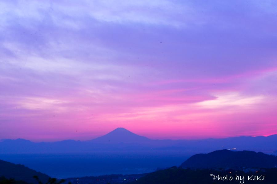 マジックアワー 湘南国際村で富士山撮影