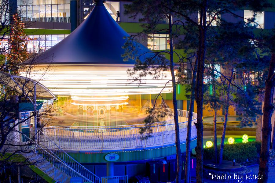 東京ドームシティ、ウィンターイルミネーション撮影