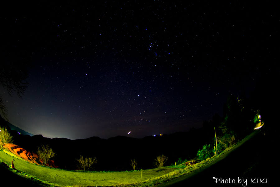 魚眼レンズで星空撮影