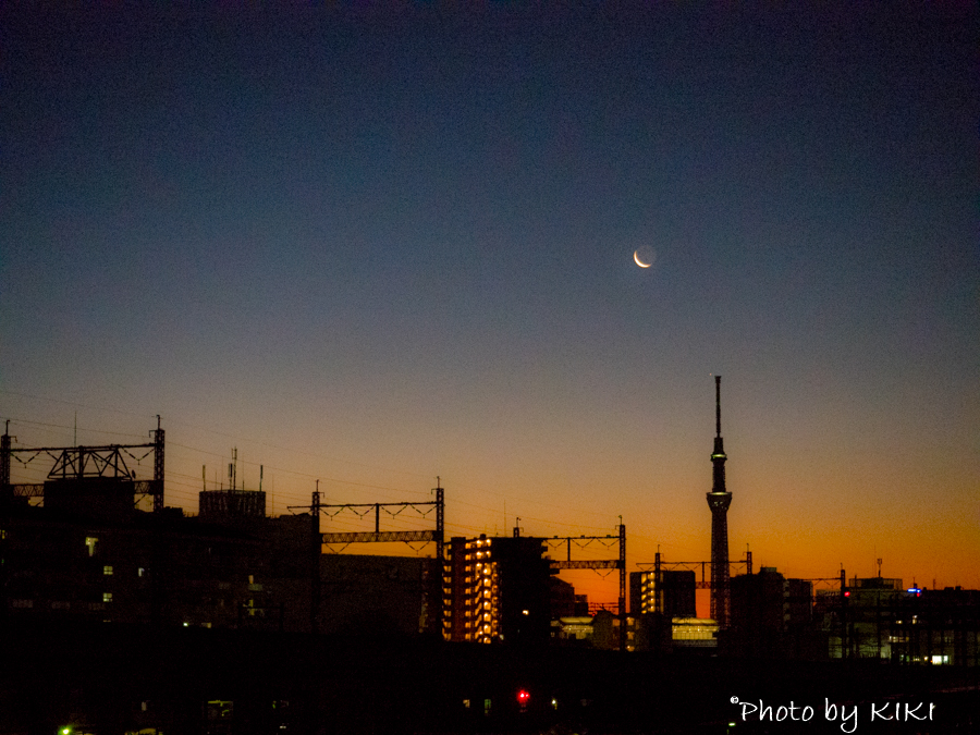 オリンパスPEN夕焼け撮影