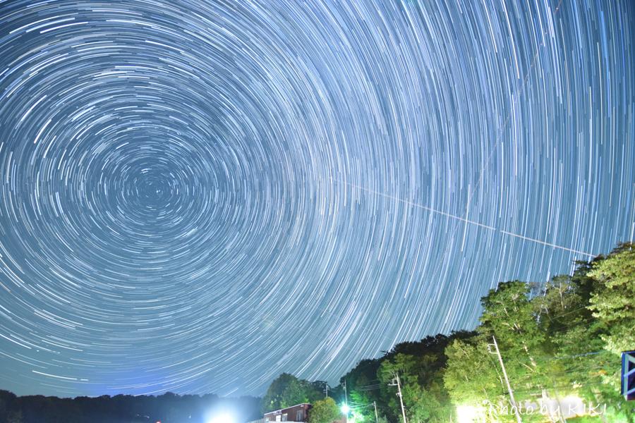 NikonD5300で星の軌跡を撮影してみました