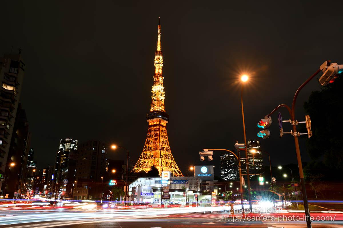 夜の東京タワー撮影スポット