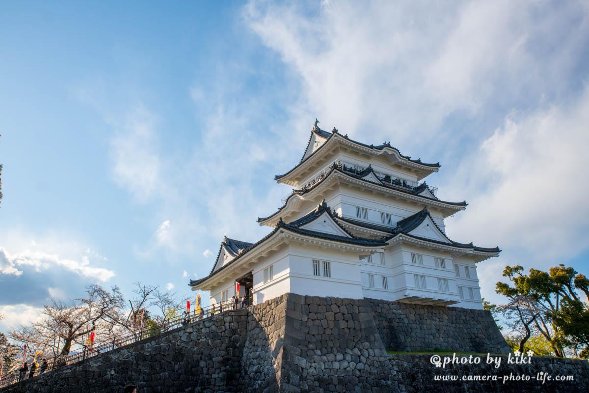日の差した時間帯の小田原城